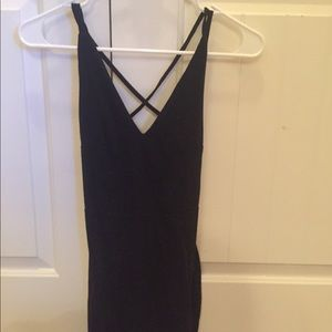 Black dress with strapped back
